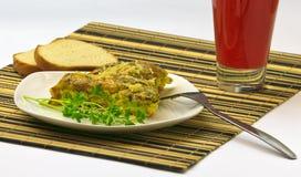 Omelet op ontbijt Stock Afbeeldingen