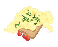 Omelet op witte achtergrond Royalty-vrije Stock Afbeelding