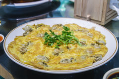 Omelet oyster Royalty Free Stock Photography
