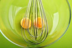 Omelet preparing Stock Images
