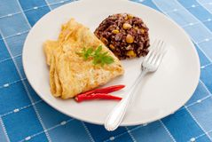 omelet with rice Royalty Free Stock Photo