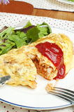 Omelet with rice Stock Photography