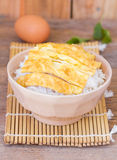 Omelet on rice popular traditional Thai fast food Stock Photography