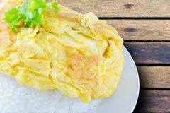 Omelet rice Stock Image