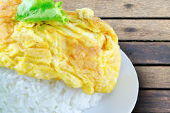 Omelet rice Royalty Free Stock Image