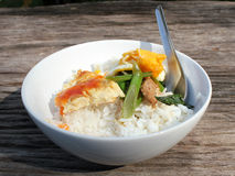 Omelet rice. Stock Photos