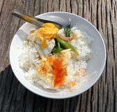 Omelet rice. Stock Photo