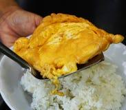 Omelet. Served Omelet from duck egg in Thailand Stock Image