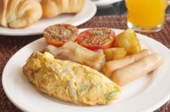 Omelet set for breakfast Stock Photography
