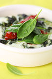 Omelet with spinach Stock Image