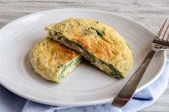 Omelet with spinach Royalty Free Stock Photo