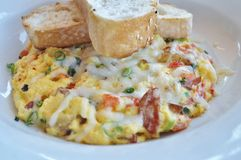 Omelet and Toast royalty free stock image
