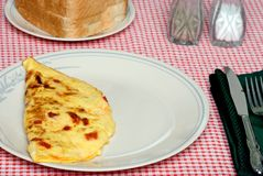 Omelet with toast Stock Images