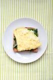 Omelet on toast Stock Photo