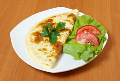 Omelet with vegetable Royalty Free Stock Photography