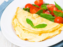 Omelet with vegetable salad Royalty Free Stock Photo