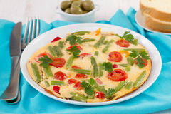 Omelet with vegetables Royalty Free Stock Photos