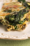 Omelet with vegetables and cheese. Frittata Royalty Free Stock Photography