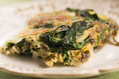 Omelet with vegetables and cheese. Frittata Royalty Free Stock Photos