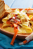 Omelet with vegetables closeup Royalty Free Stock Images