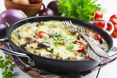 Omelet with vegetables Royalty Free Stock Image