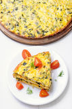 Omelet with vegetables Royalty Free Stock Photography