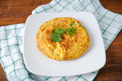 Omelet with vegetables Royalty Free Stock Photo