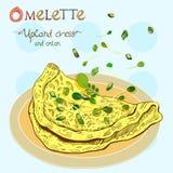 Omeleta ilustração do vetor