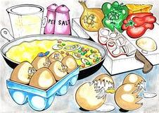 Omeleta ilustração stock