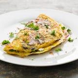Omeleta com cogumelos Fotografia de Stock Royalty Free