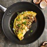 Omeleta com cogumelos Imagem de Stock