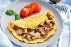 Omeleta com cogumelos Imagem de Stock Royalty Free