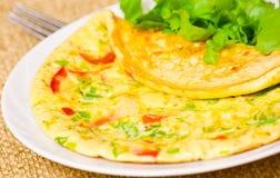 Omeleta com vegetais Fotografia de Stock Royalty Free