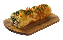 Omeleta com vegetais Foto de Stock Royalty Free