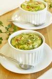 Omeleta com verdes Imagens de Stock Royalty Free