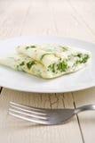 Omeleta da clara de ovos e do espinafre Imagem de Stock Royalty Free