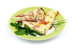 Omeleta do bacon Imagens de Stock Royalty Free