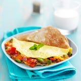 Omeleta do café da manhã foto de stock royalty free