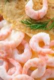 Omeleta do camarão fotos de stock royalty free