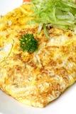 Omeleta do ovo fotografia de stock