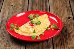 Omeleta do ovo imagens de stock