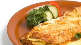 omeleta do presunto & do queijo fotos de stock