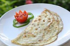 Omeleta do queijo, amlayt do ` do jabnat, aamalet do ka do paneer imagem de stock