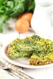 Omeleta dos espinafres Imagens de Stock