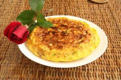 Omeleta espanhola Imagens de Stock Royalty Free