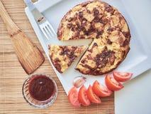 Omeleta espanhola tradicional imagem de stock