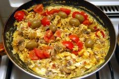 Omeleta mediterrânea Imagem de Stock