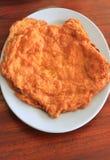 Omeleta na placa Fotografia de Stock