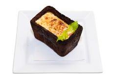 Omeleta no pão Foto de Stock Royalty Free