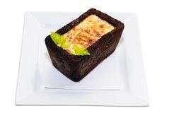 Omeleta no pão Foto de Stock